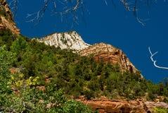 Montañas en el parque nacional de Zion, Utah Fotos de archivo