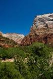 Montañas en el parque nacional de Zion, Utah Foto de archivo