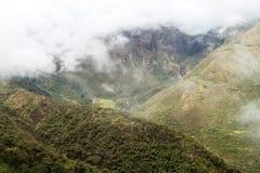 Montañas en el paso de Abra Malaga fotografía de archivo