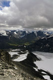 Montañas en Galhopiggen Foto de archivo libre de regalías