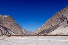 Montañas en invierno Fotos de archivo