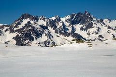 Montañas en invierno Foto de archivo
