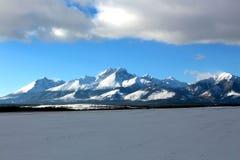 Montañas en invierno Fotografía de archivo