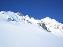 Montañas en invierno Imágenes de archivo libres de regalías