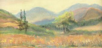 Montañas en Italia stock de ilustración