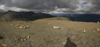 Montañas en Jasper National Park Imagenes de archivo