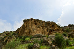 Montañas en Kadamzhay, Kirguistán Fotografía de archivo libre de regalías
