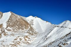 Montañas en Ladakh, la India Foto de archivo libre de regalías