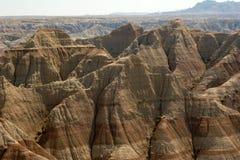 Montañas en los Badlands Imagen de archivo libre de regalías