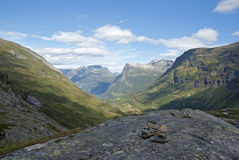 Montañas en Noruega Fotografía de archivo