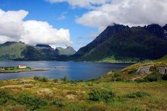 Montañas en Noruega Fotos de archivo