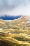 Montañas en otoño Parque de naturaleza nacional Fotografía de archivo libre de regalías