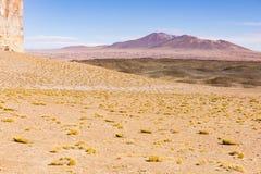 Montañas en reserva nacional de los flamencos del Los Imagen de archivo