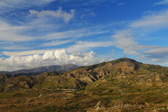 Montañas en Rodas (Grecia) Imagen de archivo libre de regalías