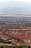 Montañas en un valle de Kenia Imagen de archivo