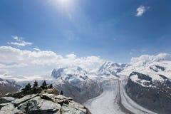 Montañas en Zermatt Foto de archivo libre de regalías