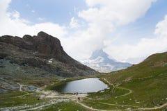 Montañas en Zermatt Fotografía de archivo libre de regalías
