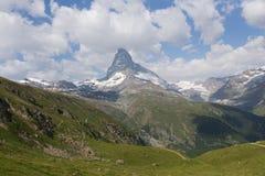 Montañas en Zermatt Imágenes de archivo libres de regalías