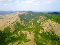 Montañas enselvadas salvajes de Balcanes Fotos de archivo libres de regalías