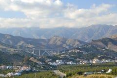 Montañas entre Nerja y el mortil fotografía de archivo libre de regalías