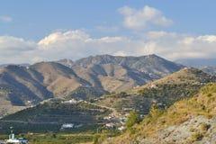 Montañas entre Nerja y el mortil fotografía de archivo