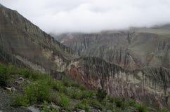 Montañas erosionadas Imagen de archivo libre de regalías