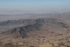 Montañas fuera de la ciudad de Kabul del aire del tha imágenes de archivo libres de regalías