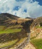 Montañas Georgia de Khevsureti Imagenes de archivo