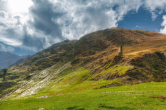 Montañas Georgia de Khevsureti Foto de archivo libre de regalías