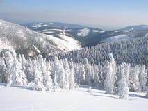 Montañas gigantes en el invierno Foto de archivo