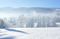 Montañas gigantes/Karkonosze, invierno de Karpacz foto de archivo libre de regalías