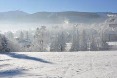 Montañas gigantes/Karkonosze, invierno de Karpacz Foto de archivo