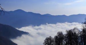 Montañas grandes Tufandag de Mountain View el Cáucaso Gabala Azerbaija Fotos de archivo libres de regalías