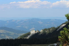 Montañas hasta el cielo Foto de archivo