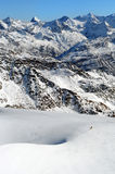 Montañas hermosas del invierno. Montan@as europeas Fotos de archivo libres de regalías
