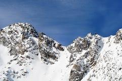 Montañas hermosas del invierno. Montan@as europeas Fotografía de archivo