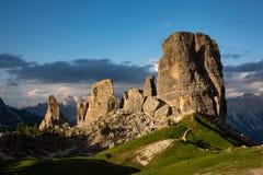 Montañas hermosas en dolomías Foto de archivo libre de regalías