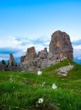 Montañas hermosas en dolomías Fotografía de archivo libre de regalías