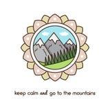Montañas Ilustración del vector Fotos de archivo
