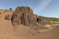 Montañas interiores de la isla del EL Hierro Imagen de archivo libre de regalías