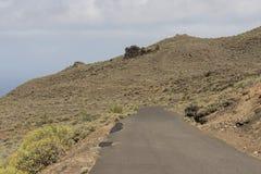 Montañas interiores de la isla del EL Hierro Fotos de archivo