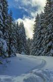Montañas italianas en el invierno imágenes de archivo libres de regalías