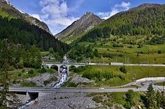 Montañas-Lavin suizas Foto de archivo libre de regalías