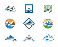 Montañas Logo Template Imagen de archivo libre de regalías