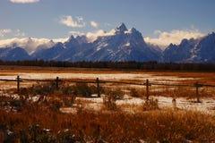 Montañas magníficas de Teton Imágenes de archivo libres de regalías