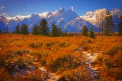 Montañas magníficas de Teton Fotografía de archivo