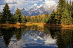 Montañas magníficas de Teton en otoño Imagenes de archivo