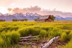 Montañas magníficas de Teton, Wyoming Imagen de archivo libre de regalías