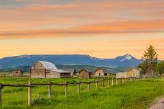 Montañas magníficas de Teton, Wyoming Fotografía de archivo
