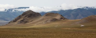 Montañas mongoles Imagen de archivo libre de regalías